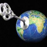 Monde et clé